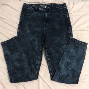 AE Acid Wash High Rise Jeans
